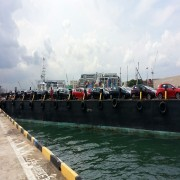 Shipment For FIAT From Sydney To Sin, Tranship To Our Chartered Barge To Indonesia